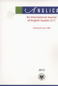 Anglica An International Journal of English Studies 21/1 2012 - brak