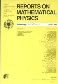 Reports on Mathematical Physics 62/2 2008 - brak