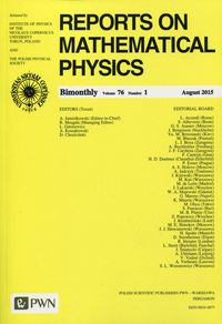 Reports on Mathematical Physics 76 2015 kraj - brak