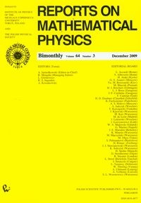 Reports on Mathematical Physics 64/3 2009 - brak
